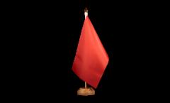 Tischflagge Einfarbig Rot