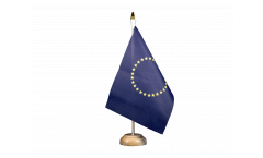 Tischflagge Europäische Union EU mit 27 Sternen - 15 x 22 cm
