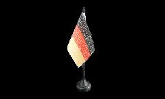 Tischflagge Fanflagge Deutschland Nationalhymne - 10 x 15 cm