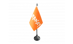 Tischflagge Fanflagge Niederlande ORANJE! - 10 x 15 cm