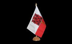 Tischflagge Gibraltar