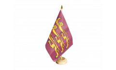 Tischflagge Großbritannien Richard Löwenherz