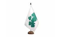 Tischflagge Irland Shamrock