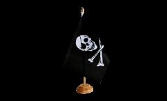 Tischflagge Pirat Skull and Bones - 15 x 22 cm