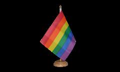 Tischflagge Regenbogen