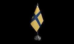 Tischflagge Schweden historische Provinz Östergotland - 10 x 15 cm