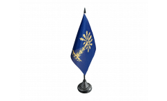 Tischflagge Schweden Provinz Blekinge län - 10 x 15 cm