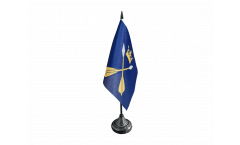 Tischflagge Schweden Provinz Dalarnas län - 10 x 15 cm