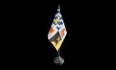 Tischflagge Schweden Provinz Västra Götalands län - 10 x 15 cm