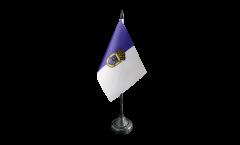 Tischflagge Spanien La Palma - 10 x 15 cm