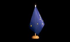 Tischflagge USA Alaska