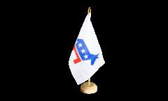 Tischflagge USA Demokraten Democrats - 15 x 22 cm