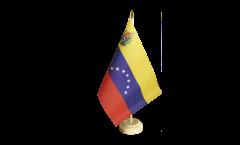 Tischflagge Venezuela 7 Sterne mit Wappen 1930-2006