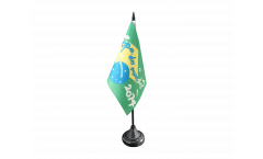 Tischflagge WM 2014 Copa do Mundo Brasilien - 10 x 15 cm