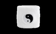 Schweißband Ying und Yang, weiß - 7 x 8 cm